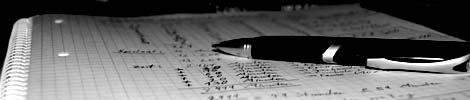 Kugelschreiber liegt auf einem Blatt Papier